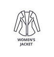 women jacket line icon outline sign linear vector image vector image
