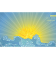 Sun and waves vector image