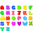 funny cartoon font letters from a to z vector image