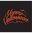 Happy Halloween Background with Hand vector image