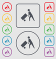 Loader icon sign symbol on the Round and square vector image