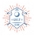 retro of golf badge vector image