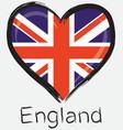 love England flag vector image