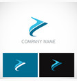 abstract arrow colored company logo vector image vector image