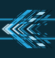 abstract blue grey tone arrow geometric direction vector image vector image