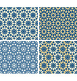 arabic patterns set vector image