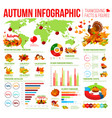 autumn infographic of thanksgiving day celebration vector image vector image
