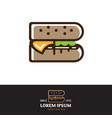 b letter based burger symbol vector image