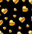 Background with golden hearts vector image vector image