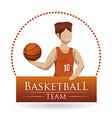 basketball emblem vector image vector image