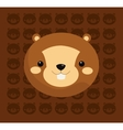beaver with pattern background image vector image vector image