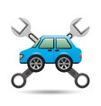 blue car icon tool support graphic vector image