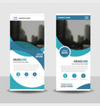 blue curve business roll up banner flat design vector image vector image
