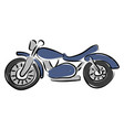 blue motorcycle on white background vector image
