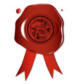 california state wax seal vector image