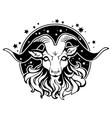 cartoon black head goat vector image vector image