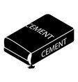 cement bag icon simple style vector image vector image