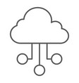 cloud network thin line icon internet and seo vector image vector image