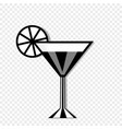 cocktail glass and lemon icon isolated on vector image