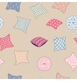 colored pillows cushions pattern vector image