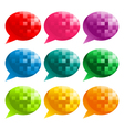 Colorful Pixel Speech Bubbles vector image vector image