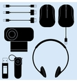 computer peripherals and cords vector image