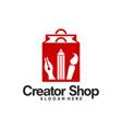 creator shop logo template creative store logo vector image vector image