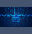 cyber lock vector image vector image