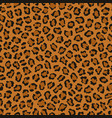 dark leopard print animal repeat pattern vector image vector image