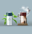 ecological friendly battery vector image vector image