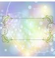 Festive floral frame vector image vector image