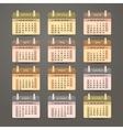 Flat calendar 2017 year design vector image