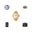 flat icon lifestyle set of timer cellphone vector image vector image