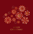 folk winter motif for christmas card greetings vector image