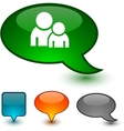 Forum speech icons vector | Price: 1 Credit (USD $1)