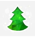 Geometric Mosaic Christmas Tree vector image