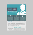 green and blue boxes with white doctor silhouette vector image