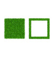 green grass isolated background 3d set lawn vector image vector image