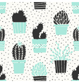 Hand Drawn Cactus Pattern vector image vector image