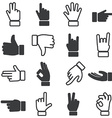 Hand icon set vector image vector image