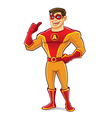 Handsome Superhero Thumb Up vector image