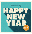 Happy new year 2016 card retro title