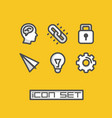 icons set ideas vector image