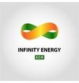 Infinity energy logo Eco energy vector image vector image