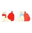 Isolated polar bears vector image