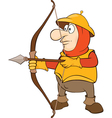 Knight Archer Cartoon Character vector image