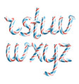 letters r s t u v w x y z 3d vector image vector image
