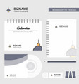 light logo calendar template cd cover diary and vector image vector image