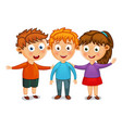 little kids best friends hug vector image vector image