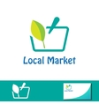 Local market symbol Basket sign vector image vector image